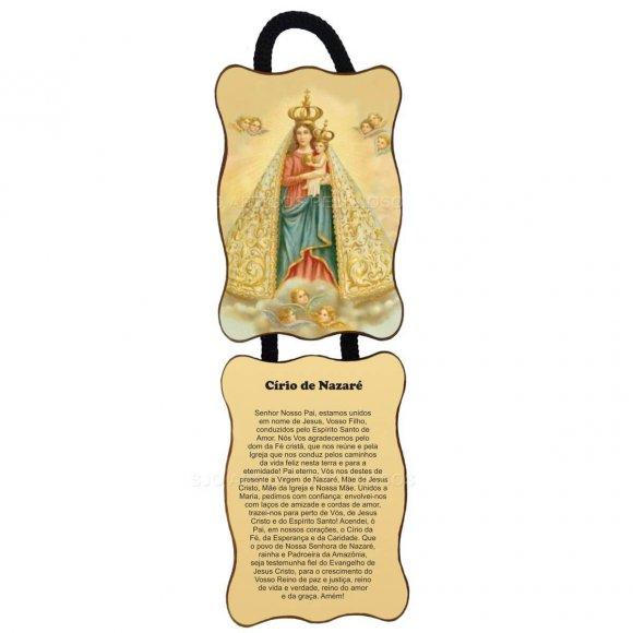Adorno de Porta Retangular Duas Peças - Nossa Senhora de Nazaré