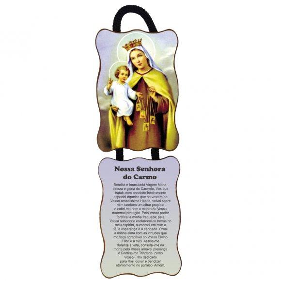 Adorno de Porta Retangular - Nossa Senhora do Carmo