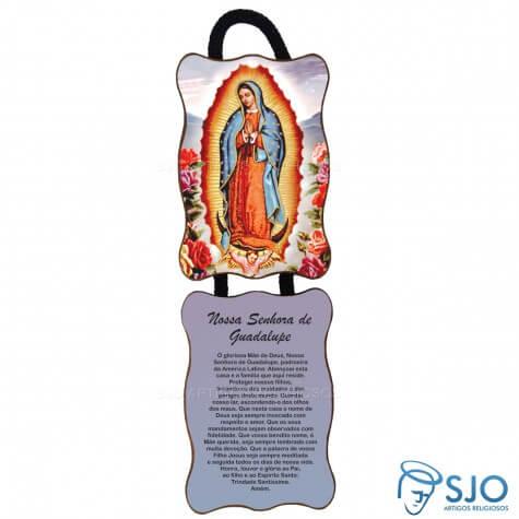 Adorno de Porta Retangular - Nossa Senhora de Guadalupe