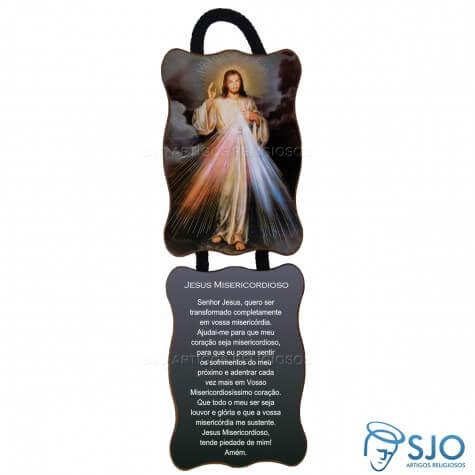 Adorno de Porta Retangular - Jesus Misericordioso