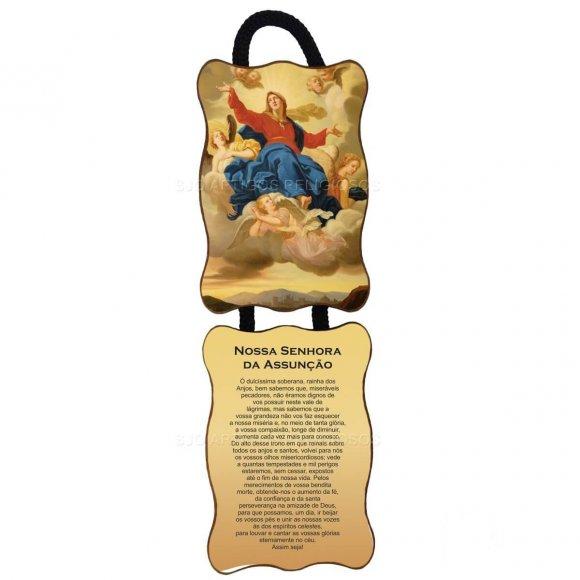 Adorno de Porta Retangular - Nossa Senhora Assunção