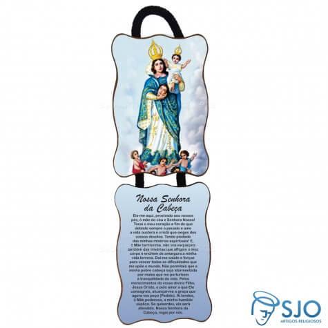 Adorno de Porta Retangular - Nossa Senhora da Cabeça