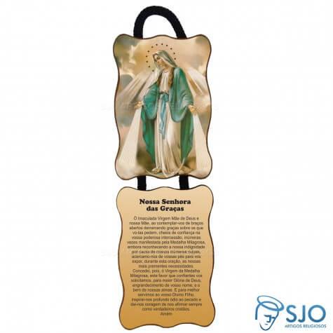 Adorno de Porta Retangular - Nossa Senhora das Graças - Mod 1