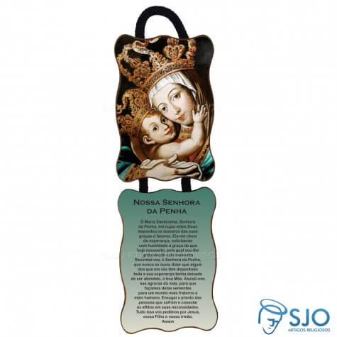 Adorno de Porta Retangular - Nossa Senhora da Penha