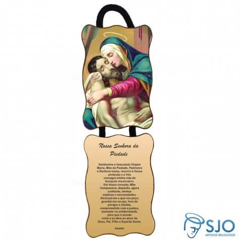 Adorno de Porta Retangular - Nossa Senhora da Piedade