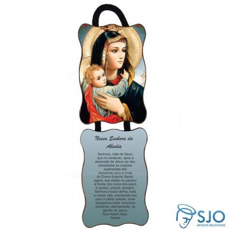 Adorno de Porta Retangular - Nossa Senhora da Abadia