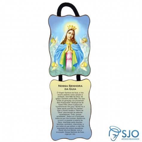 Adorno de Porta Retangular - Nossa Senhora da Guia