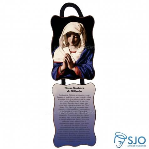 Adorno de Porta Retangular - Nossa Senhora do Silêncio