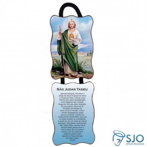 Adorno de Porta Retangular | São Judas Tadeu