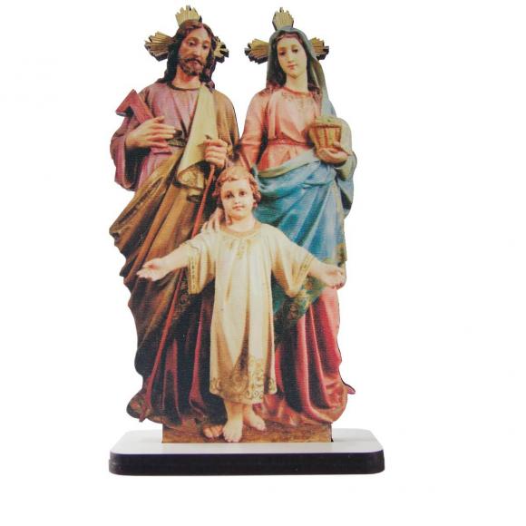 Adorno de Mesa Sagrada Família em MDF - Mod. 1