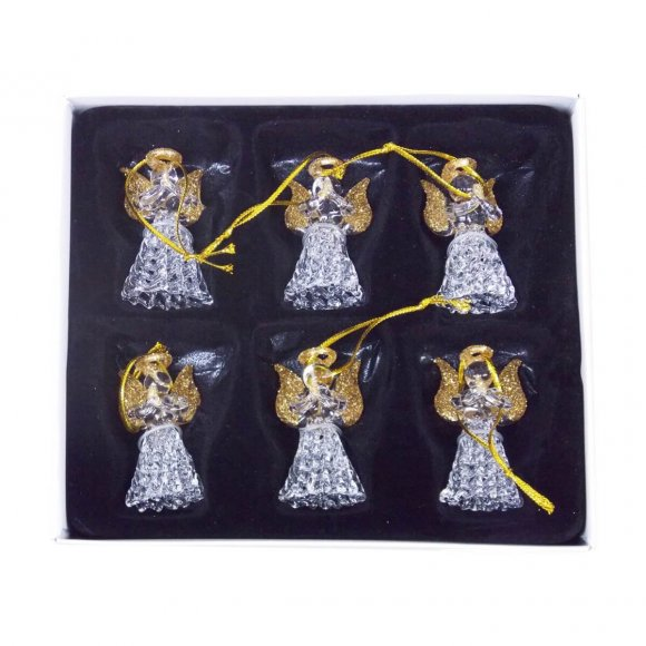 Kit Anjo de Cristal com 6 Unidades