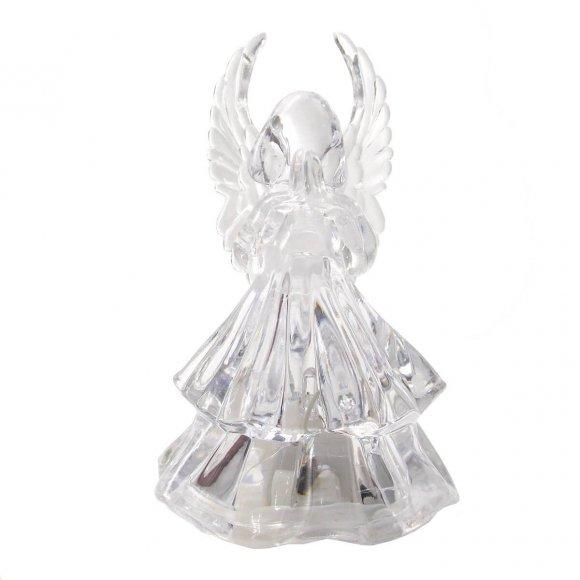 Anjo de Acrílico com Luz - 8 cm