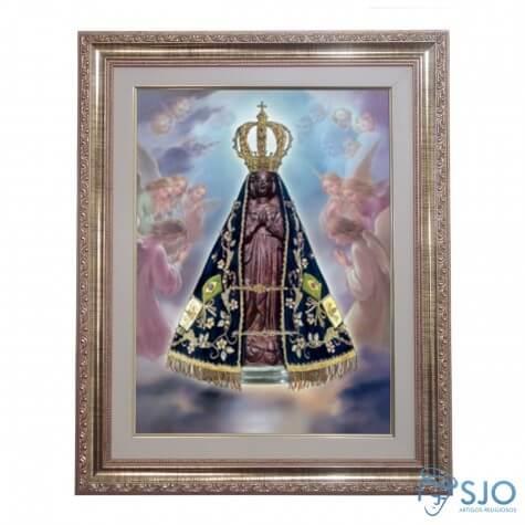Quadro - Nossa Senhora Aparecida - Modelo 1 - 52 cm x 42 cm