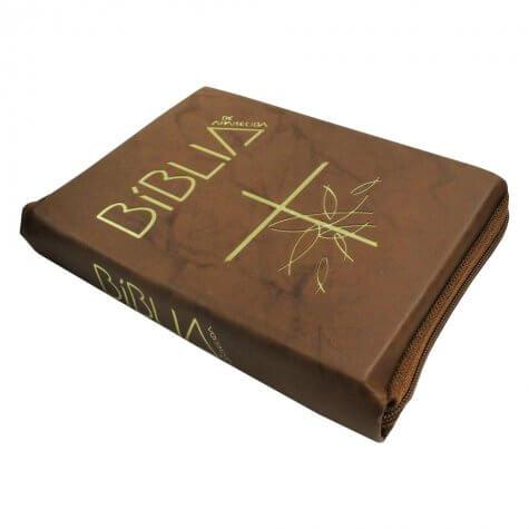 Bíblia de Aparecida com Capa de Zíper
