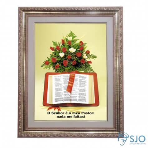 Quadro - Mensagem Bíblica - Modelo 4 - 52 cm x 42 cm