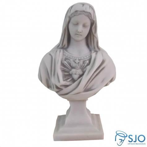 Imagem de Mármore Busto Sagrado Coração de Maria
