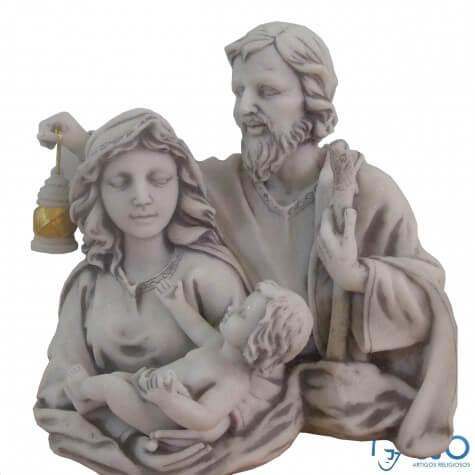 Imagem de mármore Busto Sagrado Família Lampião