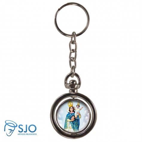 Chaveiro Redondo Giratório - Nossa Senhora da Cabeça