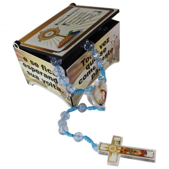 Caixinha com Terço Primeira Eucaristia