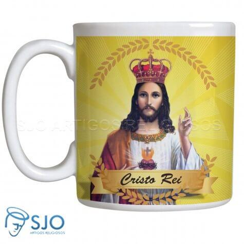 Caneca Cristo Rei com Oração