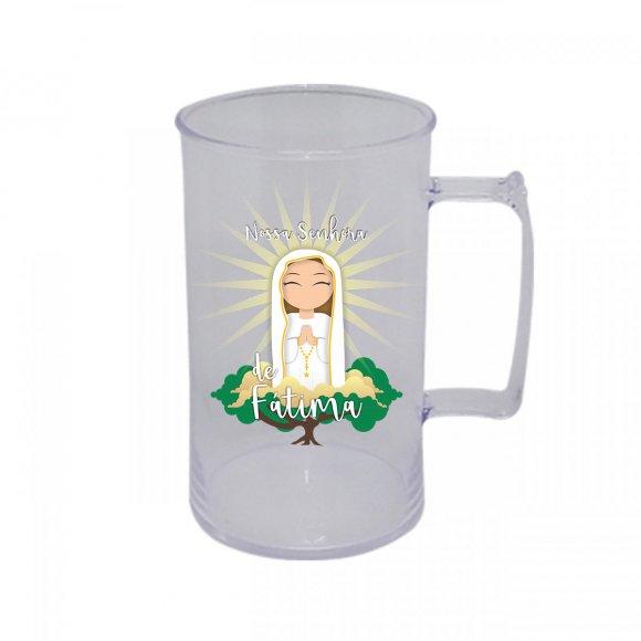 Caneca Acrílica de Nossa Senhora de Fátima Infantil