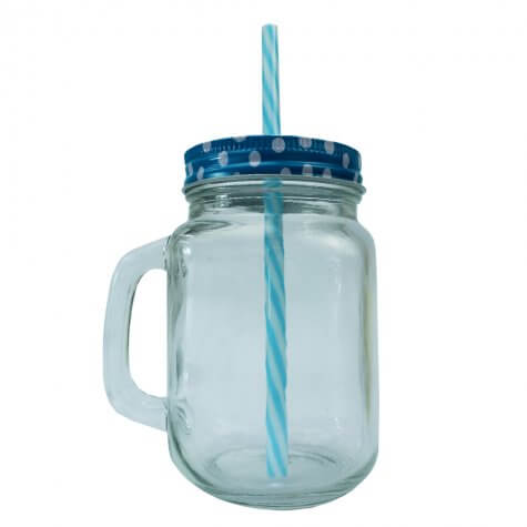 Caneca Mason Jar - 500 ml