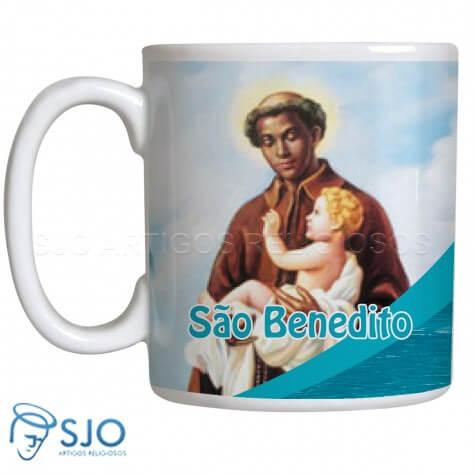 Caneca de São Benedito com Oração