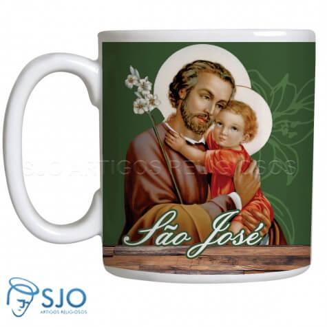 Caneca de São José com Oração