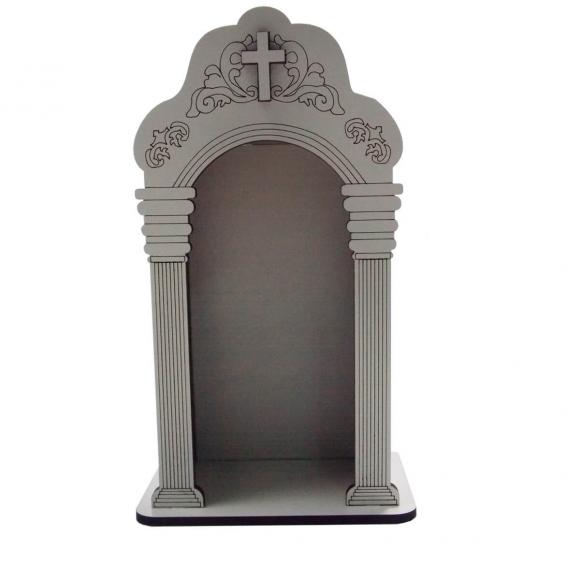 Capela Branca em MDF - 14 cm
