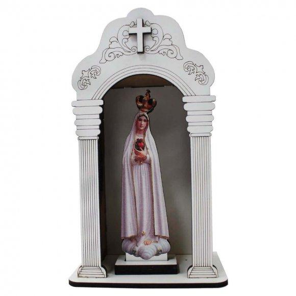 Oratório Capela Pequena Branca Nossa Senhora De Fátima