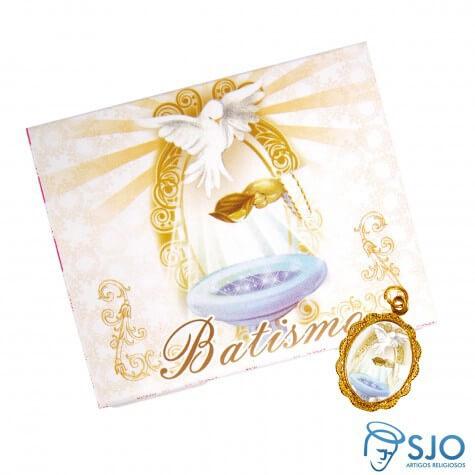 Cartão com Medalha de Batismo