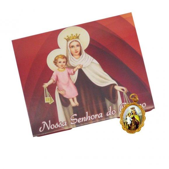 Cartão com Medalha de Nossa Senhora do Carmo