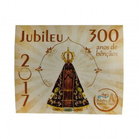 Cartão com Mini Terço - 300 Anos de Aparecida