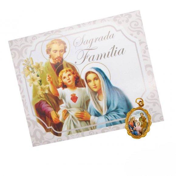 Cartão com Medalha da Sagrada Família