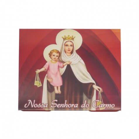 50 Cartões com Mini Terço de Nossa Senhora Carmo