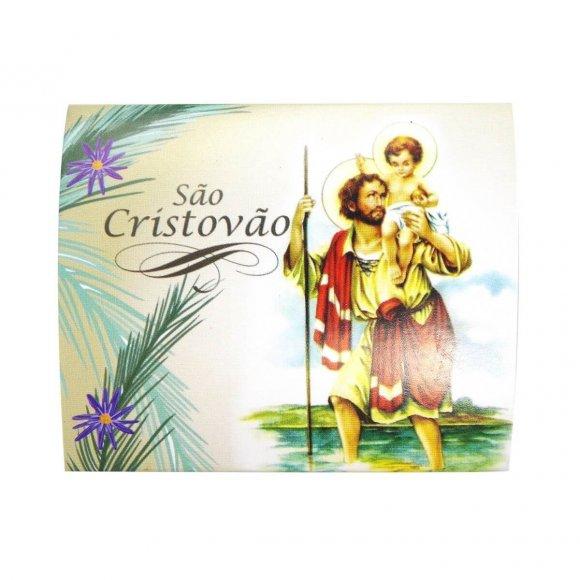 Ref: CARDMT35-1 | Cartão com Mini Terço de São Cristóvão