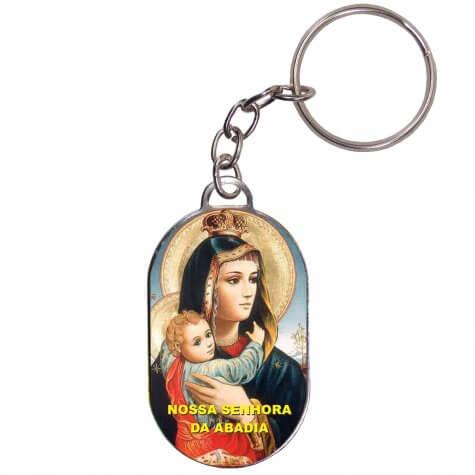 Chaveiro Chapinha - Nossa Senhora da Abadia - Mod. 2