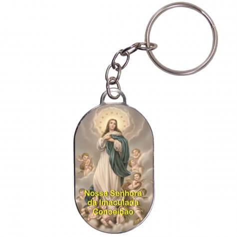 Chaveiro Chapinha - Nossa Senhora da Imaculada Conceição - Mod. 1