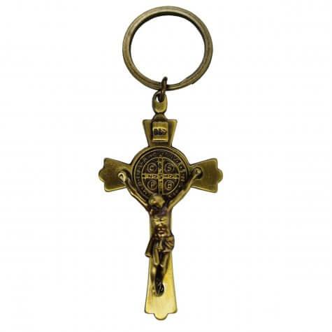 Chaveiro Cruz de São Bento Ouro Velho