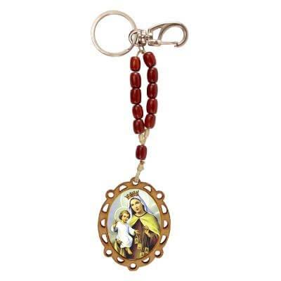 Chaveiro de Madeira Nossa Senhora do Carmo