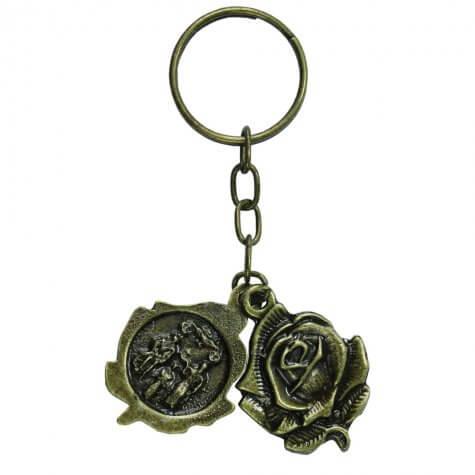 Chaveiro de Bronze Botão de Rosa