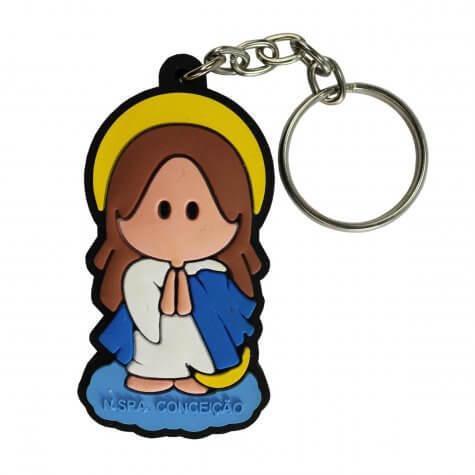 Chaveiro Emborrachado Nossa Senhora da Conceição