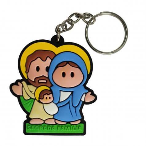 Chaveiro Emborrachado Sagrada Família