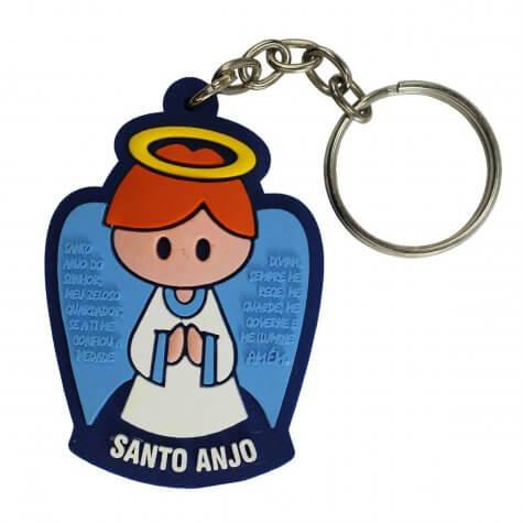 Chaveiro Emborrachado Santo Anjo