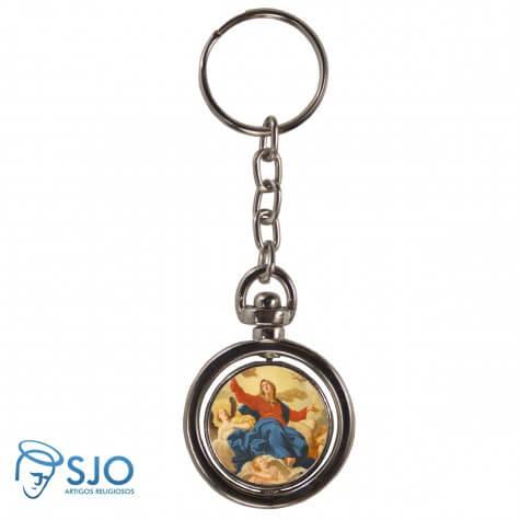 Chaveiro Redondo Giratório - Nossa Senhora da Assunção