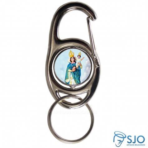Chaveiro Mosquetão Giratório Nossa Senhora da Cabeça