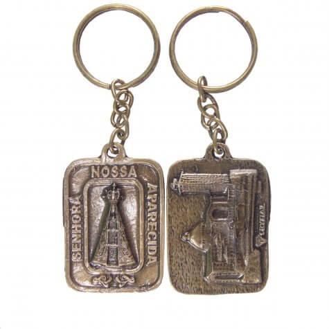 Chaveiro Nossa Senhora Aparecida de Bronze - Modelo 03