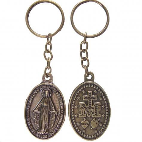 c92a057b96c Chaveiro Nossa Senhora das Graças de Bronze