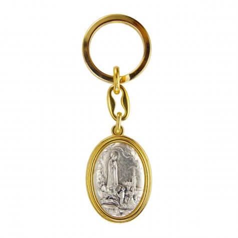 Chaveiro Nossa Senhora de Fátima Italiano Dourado