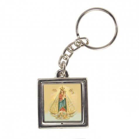 Chaveiro Quadrado Giratório Nossa Senhora de Nazaré